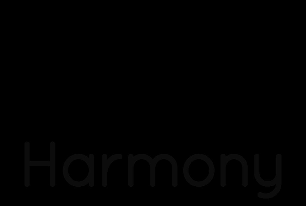 Harmony logo BK vertical