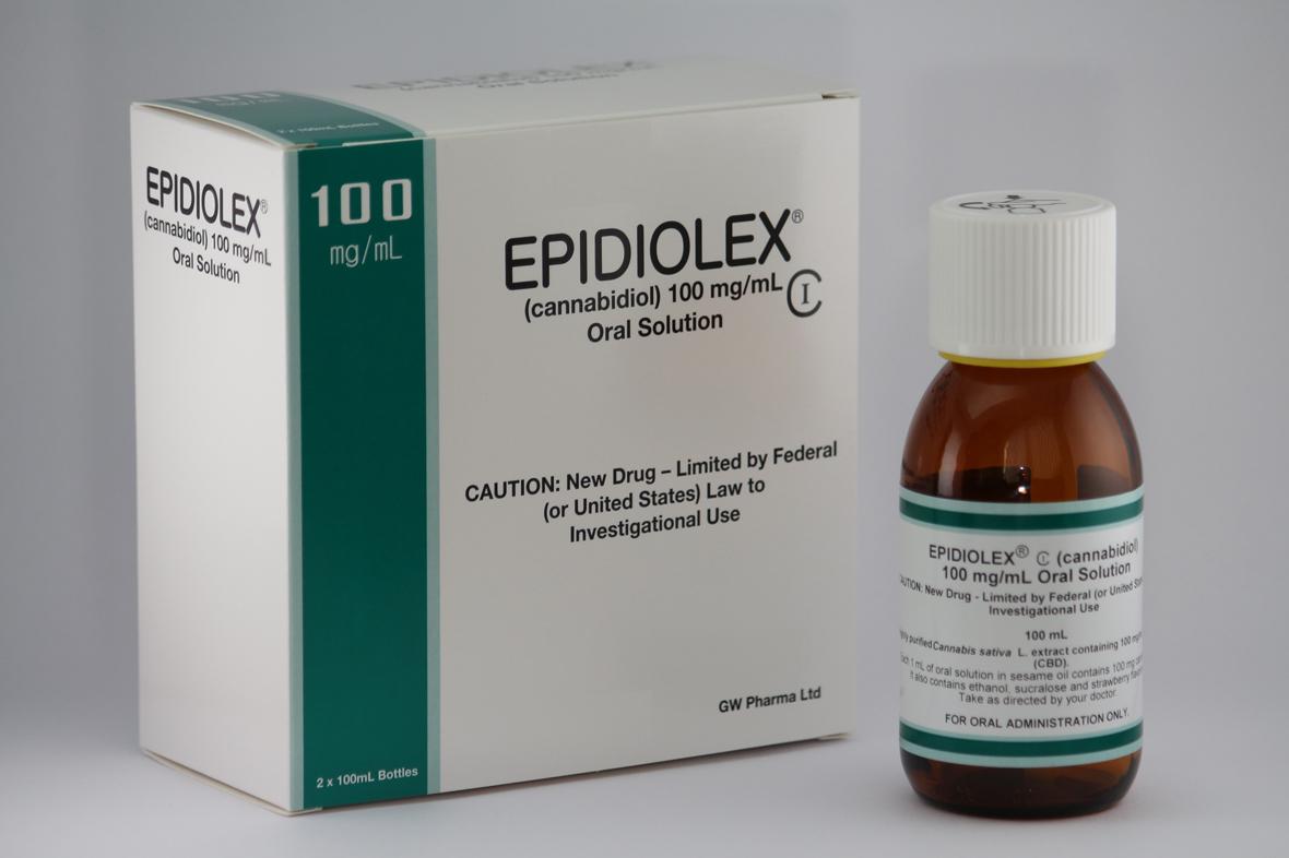 epidiolex cannabidiol or cbd bottle and packaging
