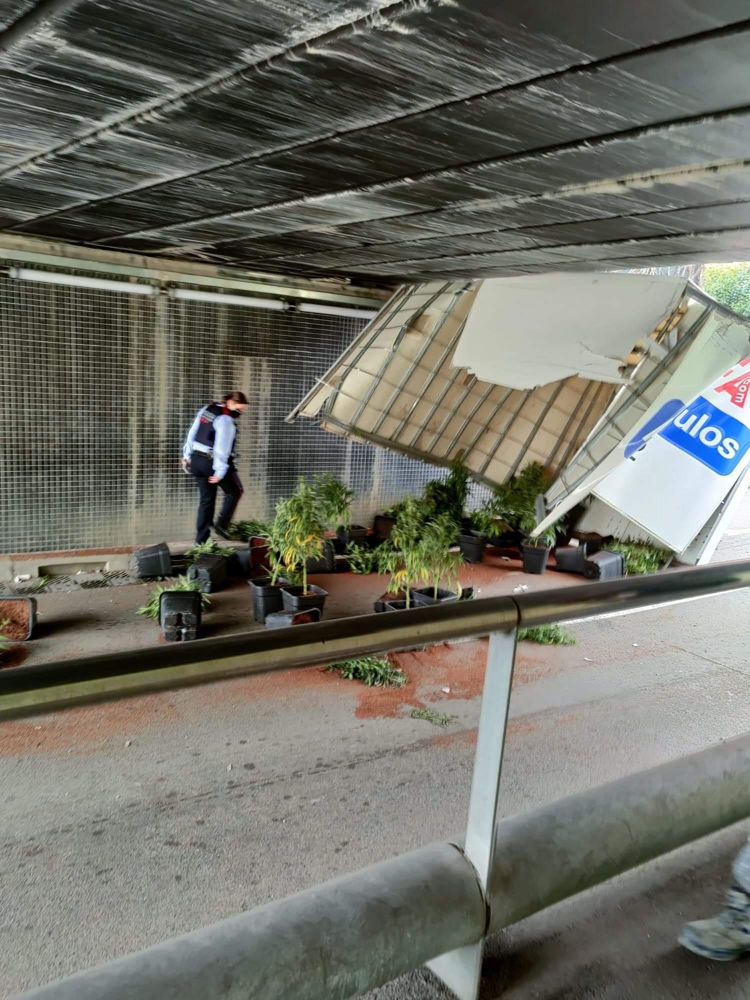 Cannabis-renversé-camion-pont-accident