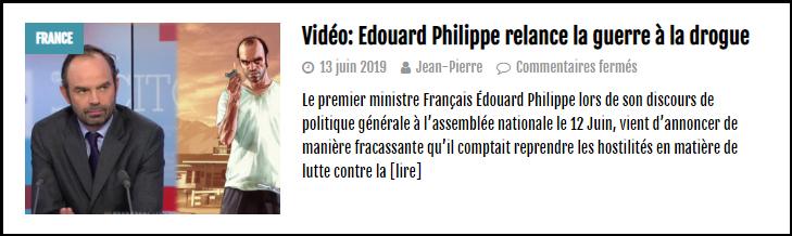 Edouard Philippe Guerre à la drogue