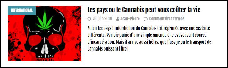 a lire sur le cannabiste peine de mort